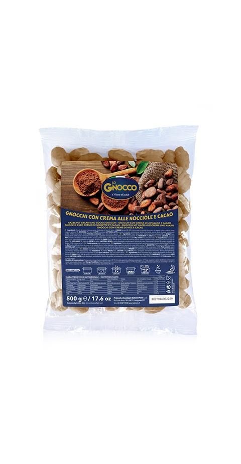 Gnocchi con crema alle nocciole e cacao