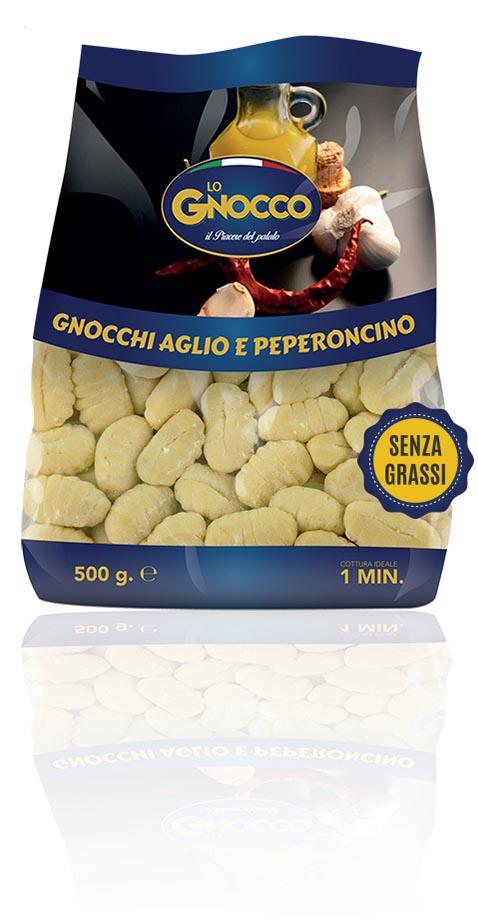 Garlic and chilli pepper Gnocchi
