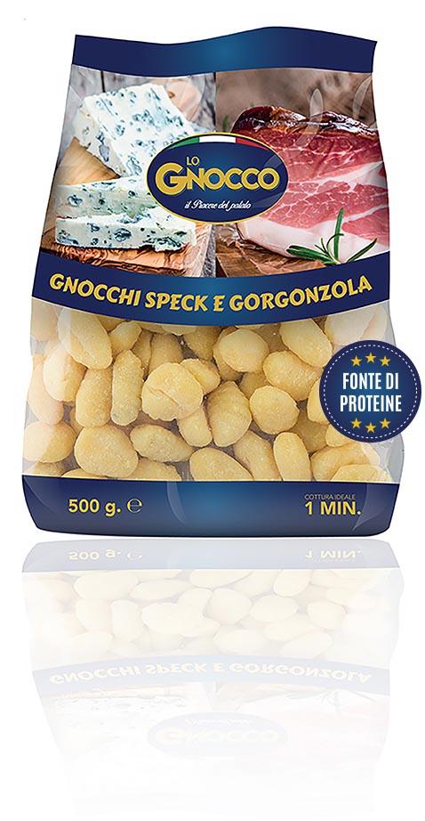 Gnocchi speck e gorgonzola